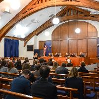 Baker Courtroom moot court finals